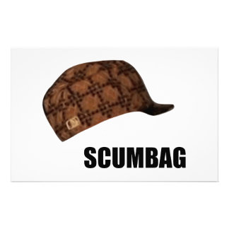 Scumbag Steve Hat Meme Custom Stationery