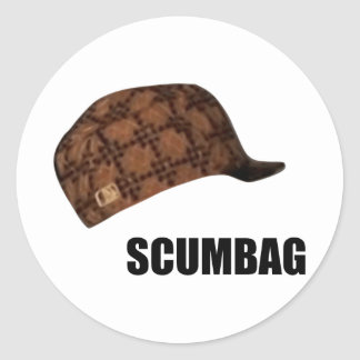 Scumbag Steve Hat Meme Classic Round Sticker