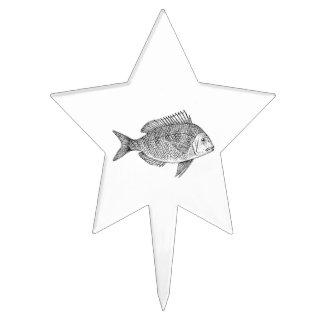 Scup Fish Graphic Cake Topper
