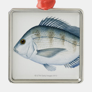 Scup Fish Metal Ornament