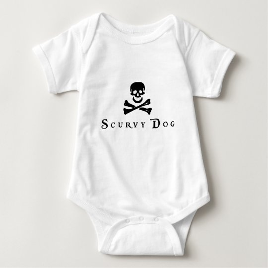 Scurvy Dog Baby Bodysuit