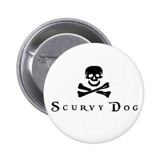 Scurvy Dog Pinback Button