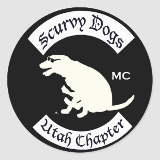 Scurvy Dog Motorcycle Club Official Gear Classic Round Sticker