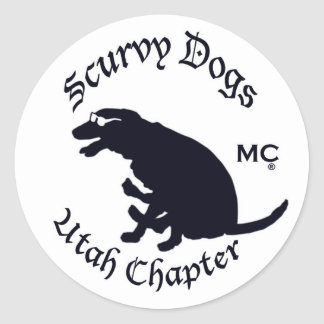 Scurvy Dog Motorcycle Club Official Gear Round Sticker