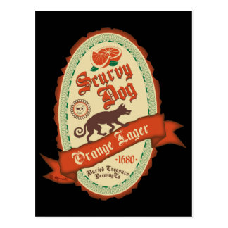 Scurvy Dog Orange Lager Postcard