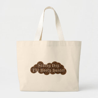 Scurvy Dog The Booty Hunter Dubloons Large Tote Bag