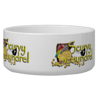 SCURVY SCOUNDREL DOG WATER BOWLS
