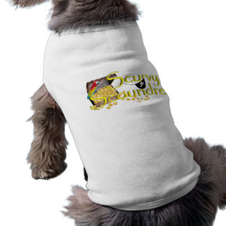 Scurvy Scoundrel Text w Pirate Treasure Chest Pet Tee Shirt