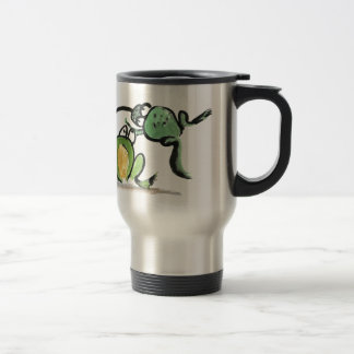 Scuse Me! Coming Through says one frog to another Travel Mug
