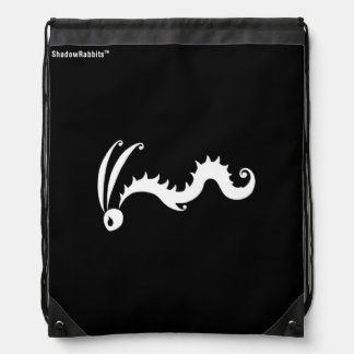 Scuttle the Shadow Rabbit Drawstring Backpack
