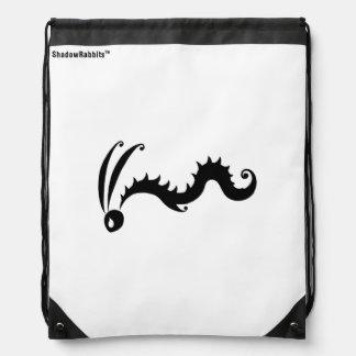 Scuttle the Shadow Rabbit Drawstring Bag