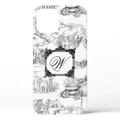 SCWT Griffin Toile with Personalization iPhone 12 Case