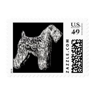 SCWT Soft Coated Wheaten Terrier Stamp