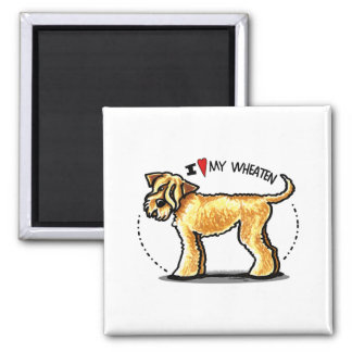 SCWT Wheaten Terrier Lover 2 Inch Square Magnet