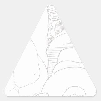 Scylla Pegatina Triangular