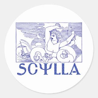 Scylla Pegatinas Redondas