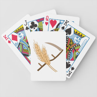Scythe and Grain Bicycle Playing Cards