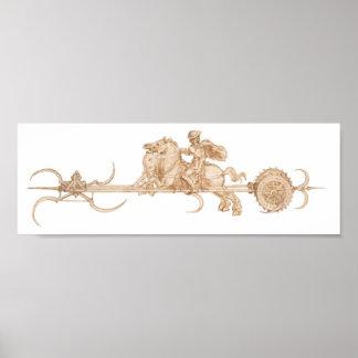 Scythed Chariot, Leonardo da Vinci Poster