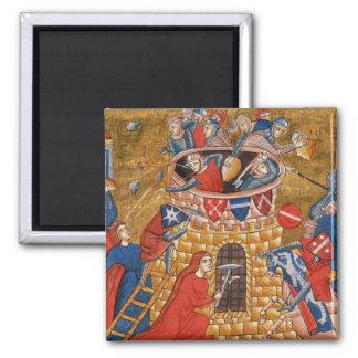 Scythian women besieging their enemies 2 inch square magnet