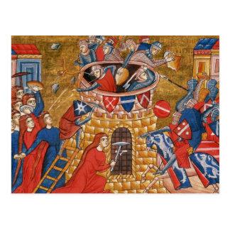 Scythian women besieging their enemies postcard