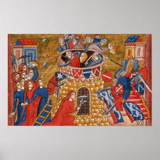 Scythian women besieging their enemies poster