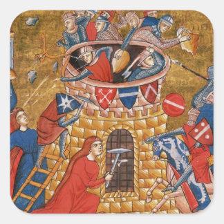 Scythian women besieging their enemies square sticker