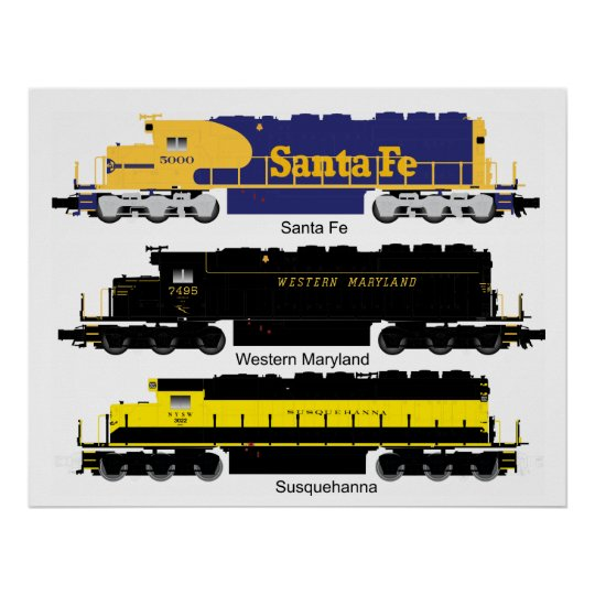 SD40 Diesel Electric Locomotive Poster