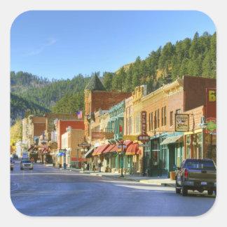 SD, Deadwood, ciudad histórica de la minería Pegatinas Cuadradases