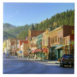 SD, Deadwood, Historic Gold Mining town Ceramic Tile