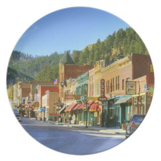 SD, Deadwood, Historic Gold Mining town Party Plates