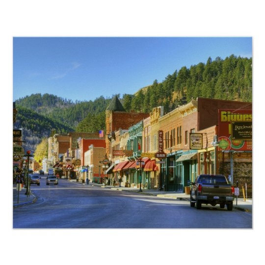 SD, Deadwood, Historic Gold Mining town Poster