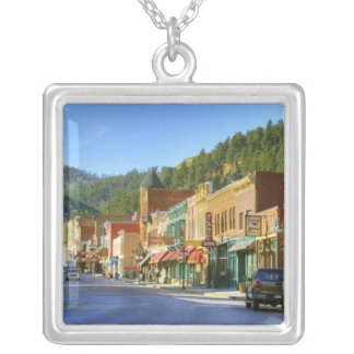 SD, Deadwood, Historic Gold Mining town Silver Plated Necklace