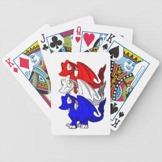 SD Furry Dragon Trio 4 Playing Cards