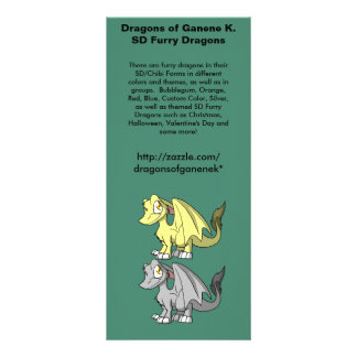 SD Furry Dragons Promo Rack Card