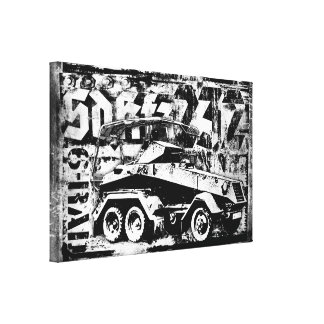 Sd.Kfz. 232 (6-Rad) Wrapped Canvas Canvas Print