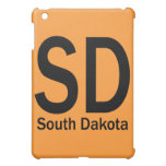 SD South Dakota plain black iPad Mini Cover