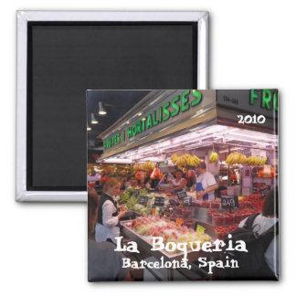 SDC10299, La Boqueria, Barcelona, Spain, 2010 2 Inch Square Magnet