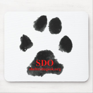 SDO paw print Mouse Pad