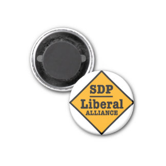 SDP Liberal Alliance Sign 1 Inch Round Magnet