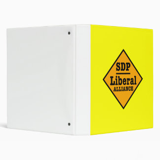 SDP Liberal Alliance Sign 3 Ring Binder