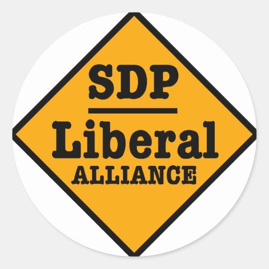 SDP Liberal Alliance Sign Classic Round Sticker