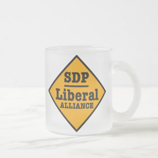 SDP Liberal Alliance Sign Frosted Glass Coffee Mug