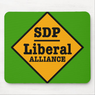 SDP Liberal Alliance Sign Mouse Pad