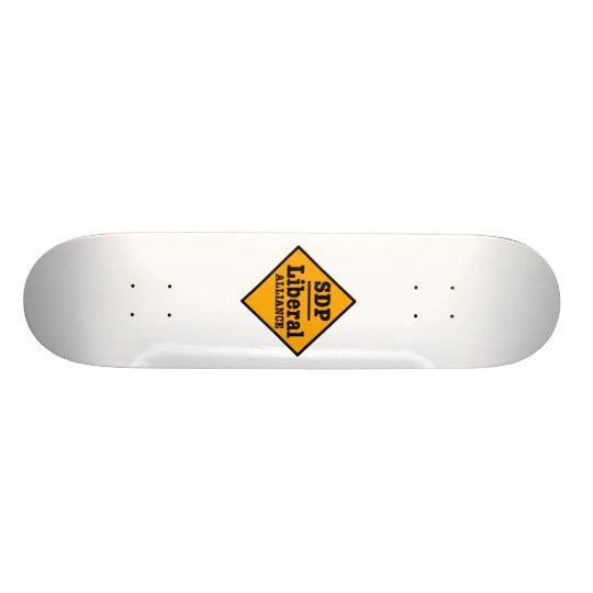 SDP Liberal Alliance Sign Skateboard Deck