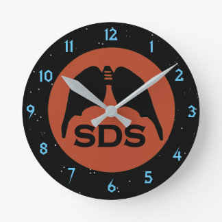 SDS SYMBOL by Slipperywindow Round Clock