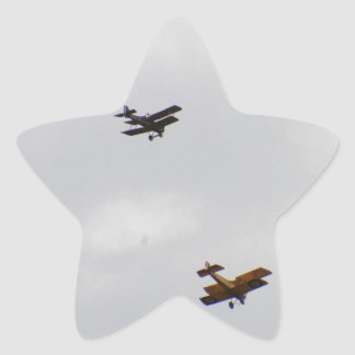 SE5A And Sopwith Camel Models Star Sticker