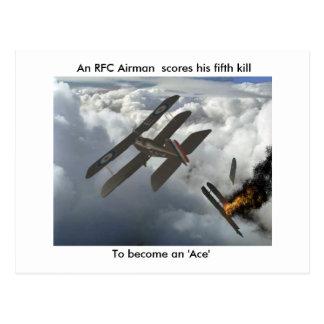 Se5a mata a DFW cuentas de un aviador del RFC su Postales