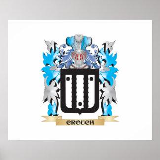 Se agacha el escudo de armas - escudo de la póster