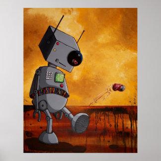 Se agujerea este robot póster