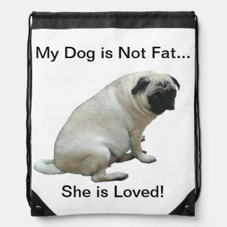 ¡Se ama mi perro no es gordo… ella! Mochilas